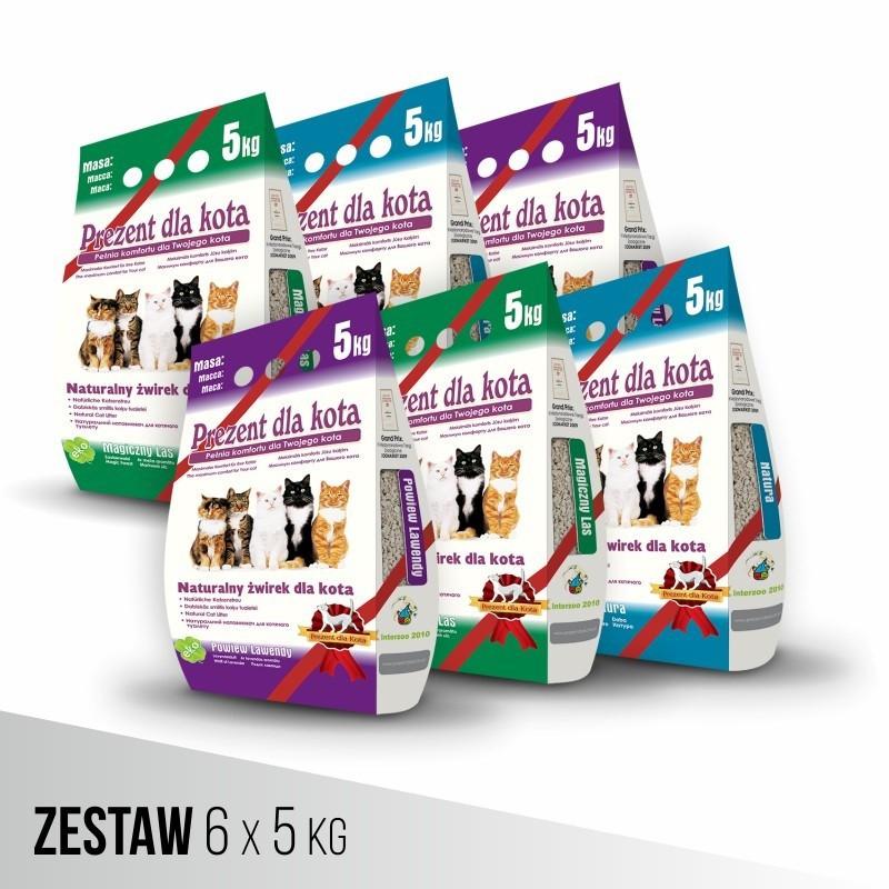 ZESTAW Żwirek Prezent dla Kota 6-PAK 6x5 kg - 49,99 zł
