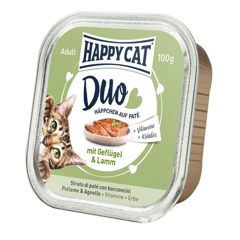 Happy Cat Deserówka Duo pasztet kurczak i jagnięcina 100g