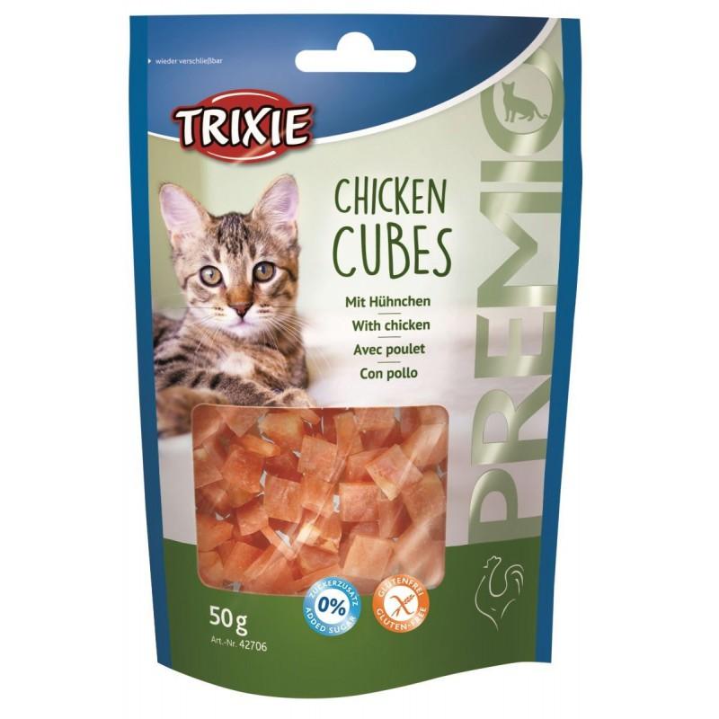 TRIXIE Przysmak dla kota PREMIO Chicken Cubes 50g