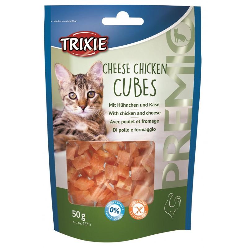 TRIXIE Przysmaki dla kota PREMIO Cheese Chicken Cubes 50g