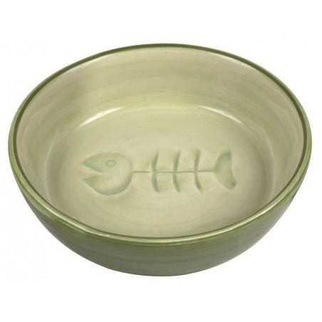 TRIXIE Miska dla kota ceramiczna z rybką