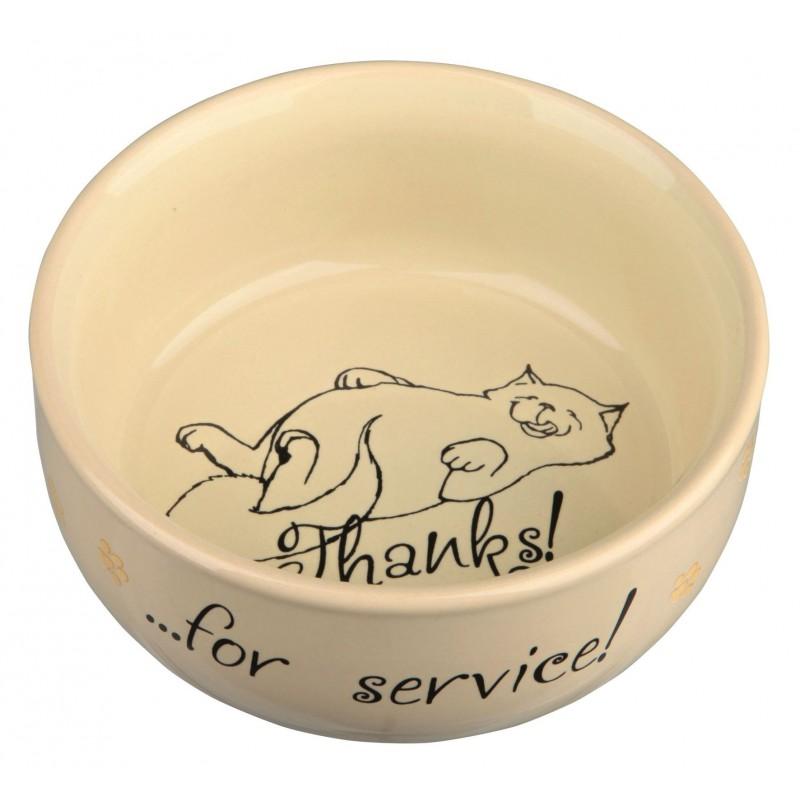 TRIXIE Miska ceramiczna dla kota Thanks for service