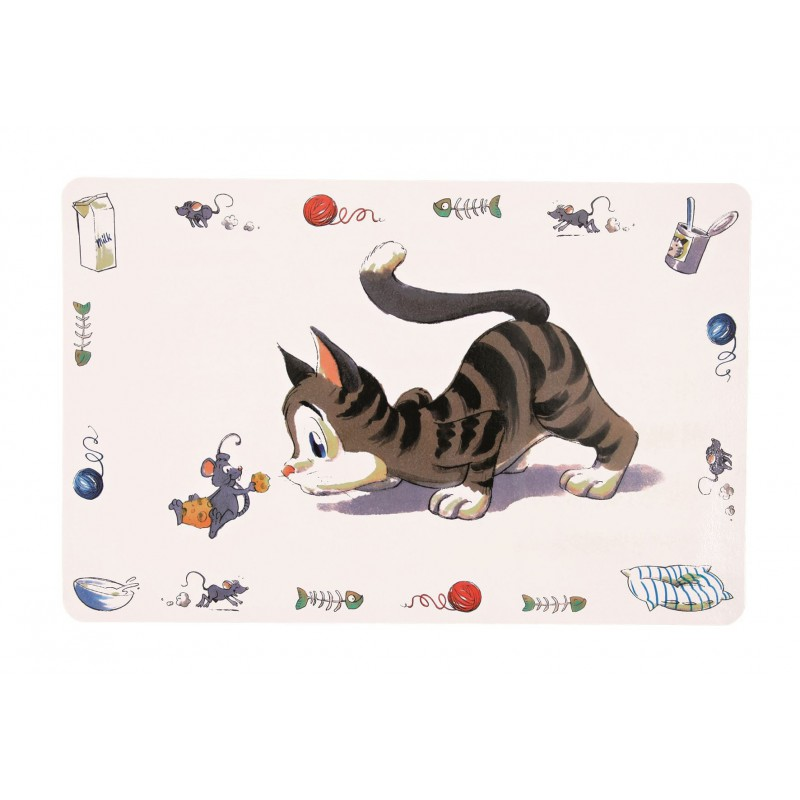 TRIXIE Podkładka pod miskę dla kota Kot