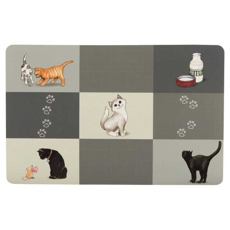 TRIXIE Podkładka pod miskę dla kota Patchwork Cat