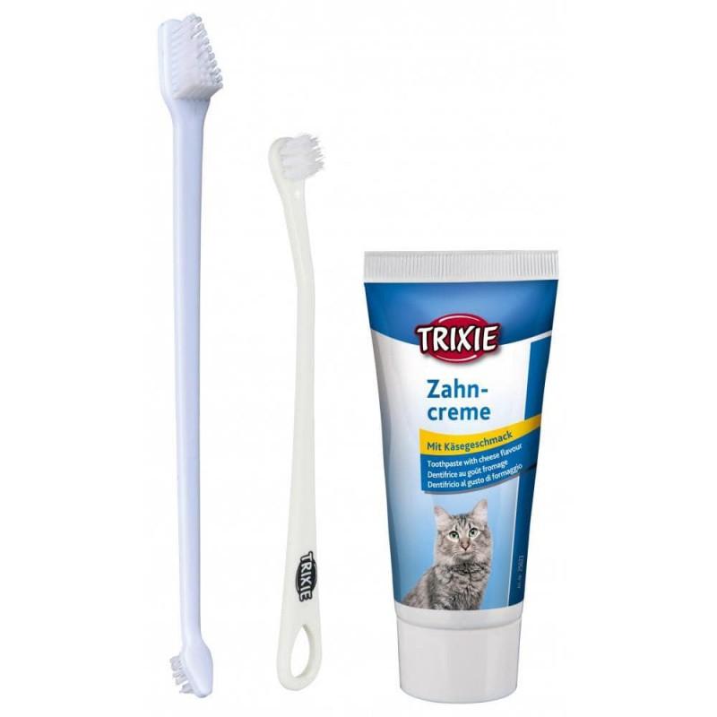 TRIXIE Zestaw do pielęgnacji zębów dla kota