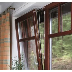 TRIXIE Kratka zabezpieczająca dla kota do okna biała skośna
