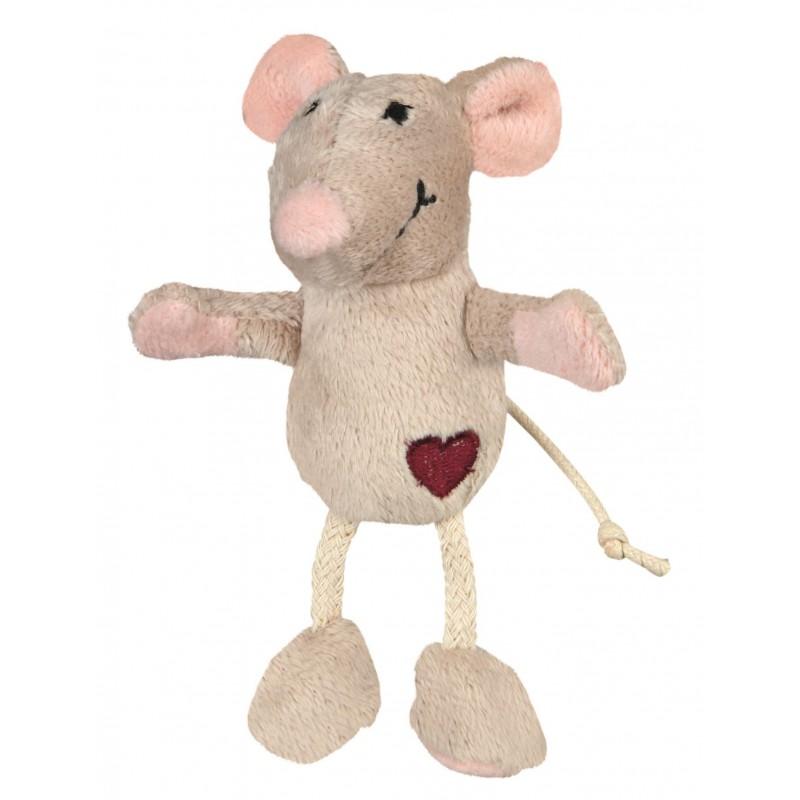 TRIXIE Mysz pluszowa dla kota z serduszkiem