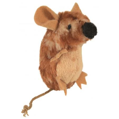 TRIXIE Mysz pluszowa dla kota z dźwiękiem brązowa