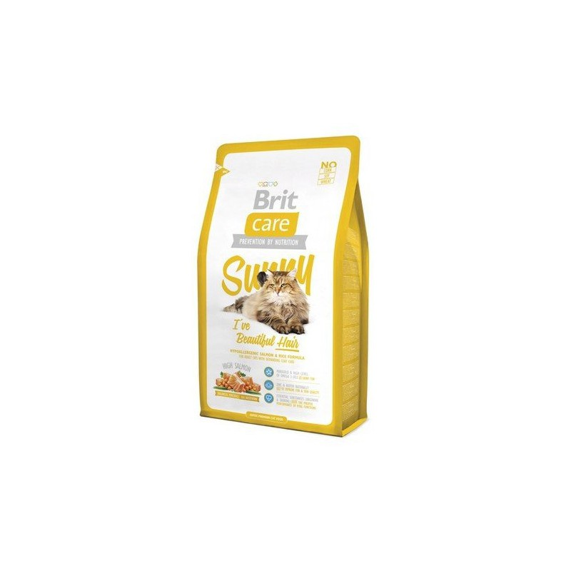 Brit Care Cat New Sunny I've Beautiful Hair Salmon & Rice 2kg Brit