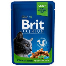 Brit Premium Cat Adult Kurczak Sterilised saszetka 100g Brit