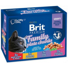 Brit Premium Cat Adult Multipack saszetki 12x100g Brit