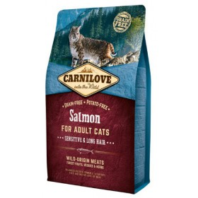 Carnilove Cat Salmon Sensitive & Long Hair - łosoś 2kg Carnilove