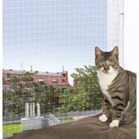 TRIXIE Siatka ochronna na balkon dla kota bezbarwna 6x3m