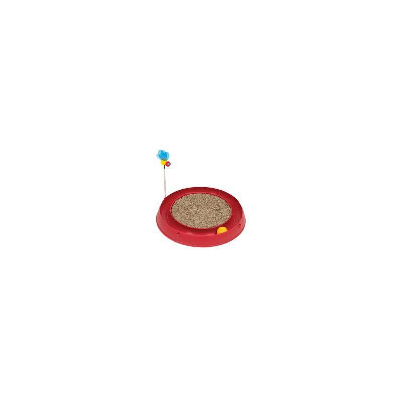 CATIT Okrągła zabawka dla kota z piłką i matą do drapania
