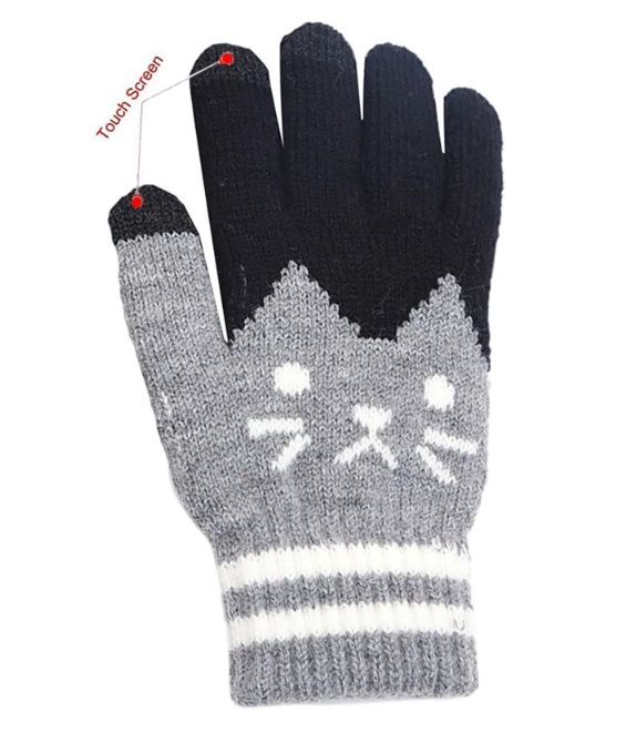 Rękawiczki dotykowe kot